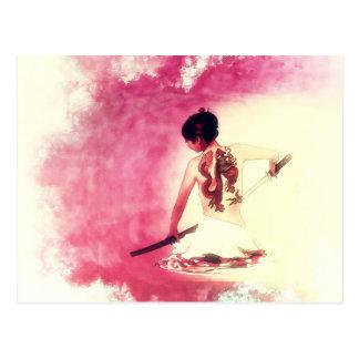 Madame chinoise Samurai par le Mac de Shawna Carte Postale