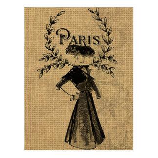 Madame classique vintage de Paris Carte Postale