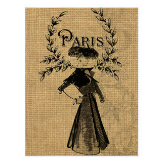 Madame classique vintage de Paris Cartes Postales