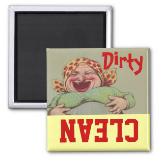Madame Clean Dirty Dishwasher du cru LOL Magnet Carré