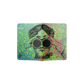 """Madame """"du monde de merveille"""" - avec des jumelles protège-passeports"""
