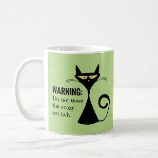 Madame folle de chat mug blanc
