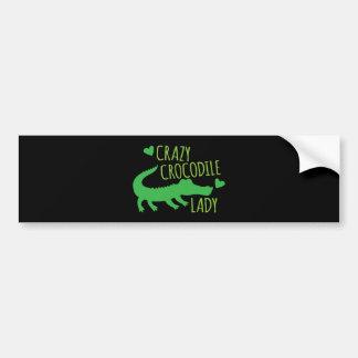 Madame folle de crocodile autocollant de voiture