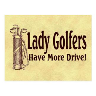 Madame Golfers Cartes Postales