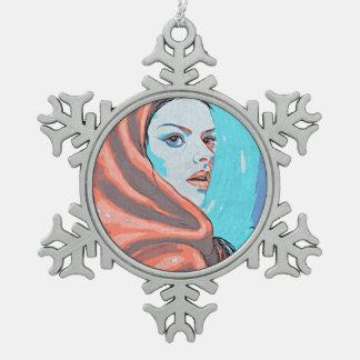 Madame In Orange Hood Ornement Flocon De Neige
