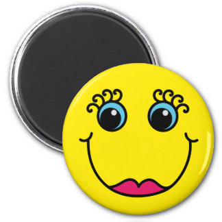 Madame jaune Smiley Face Aimant