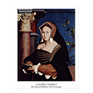 Madame Mary Guildford By Hans Holbein le plus Carte Postale