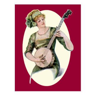 Madame Player Postcard Carte Postale