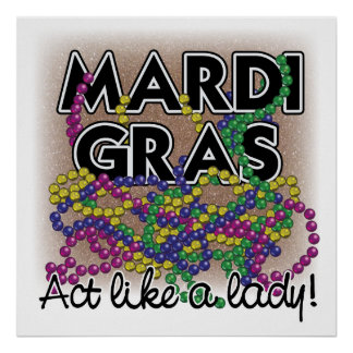 Madame Poster de mardi gras