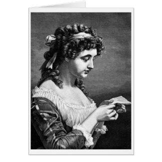 Madame Reading une lettre, carte