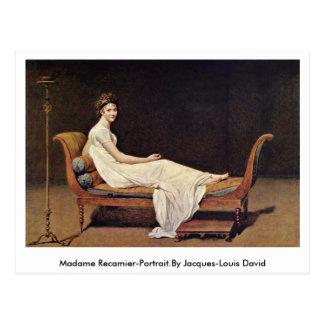 Madame Recamier-Portrait.By Jacques-Louis David Carte Postale