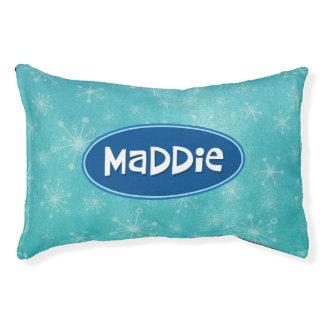 Maddie a personnalisé le bleu lit pour chien