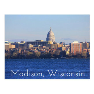 Madison le Wisconsin la carte postale de capitol