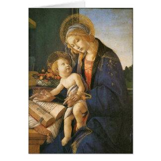 Madonna et carte de Noël de Botticelli d'enfant