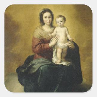 Madonna et enfant, autocollant religieux de