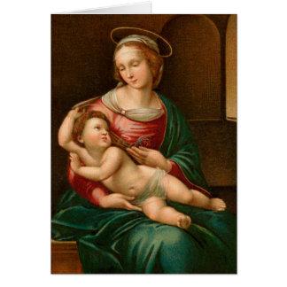 Madonna vintage et carte de Noël religieuse
