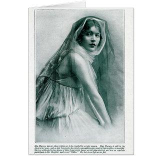 Mae Murray 1916 modes vintages de portrait Carte De Vœux