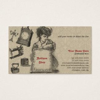 Magasin d'antiquités/brocanteur/art vintage carte de visite standard