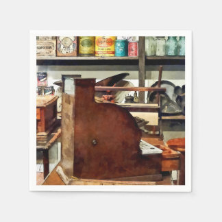 Magasin en bois de caisse enregistreuse en général serviettes en papier