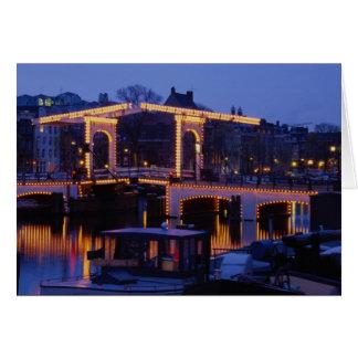 """Magere Brug, """"pont maigre"""", drawbrid de Carte"""