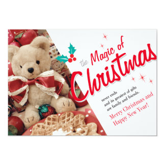 Magie de Noël Carton D'invitation 12,7 Cm X 17,78 Cm