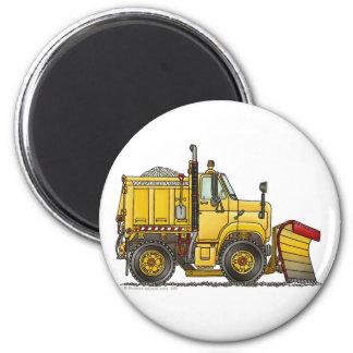 Magnet de camion de chasse-neige magnet rond 8 cm