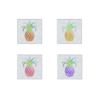 Magnet En Pierre Arrière - plan de PixDezines Aloha Pineapples/DIY