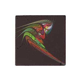 Magnet En Pierre Art abstrait de caméléon