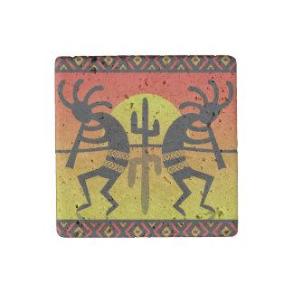 Magnet En Pierre Conception tribale de cactus de Kokopelli de