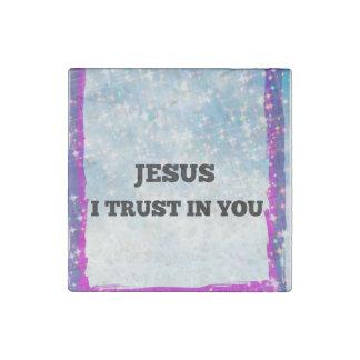Magnet En Pierre Confiance de Jesu I dans vous