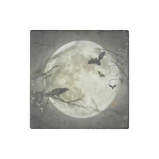 Magnet En Pierre Corneilles éffrayantes de lune de Halloween