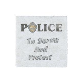 Magnet En Pierre La police se protège et sert