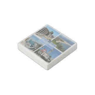 Magnet En Pierre Le GR Grèce - Kos - le port de la ville de Kos -