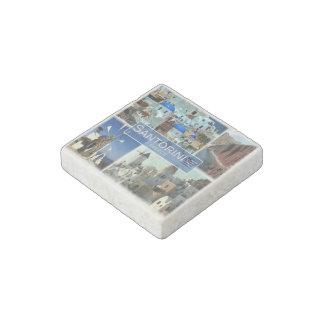 Magnet En Pierre Le GR Grèce - Santorini - moulin à vent - Oia -