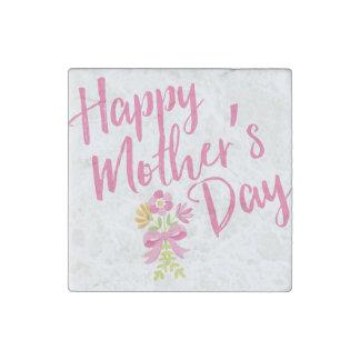 Magnet En Pierre Le rose heureux du jour de mère fleurit le cadeau
