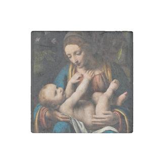 Magnet En Pierre Med Kristusbarnet de Madonna