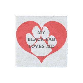 Magnet En Pierre mon laboratoire de noir m'aime