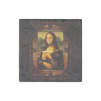 Magnet En Pierre Mona Lisa - bière de Mona Lisa - Lisa-bière drôle
