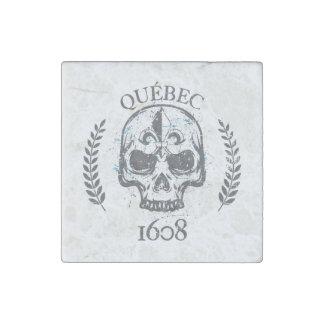 Magnet En Pierre Québec patriote 1608 grunge métal Référendum OUI