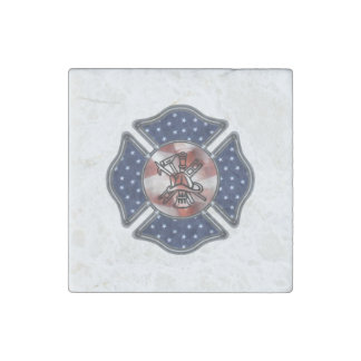 Magnet En Pierre Sapeur-pompier patriote