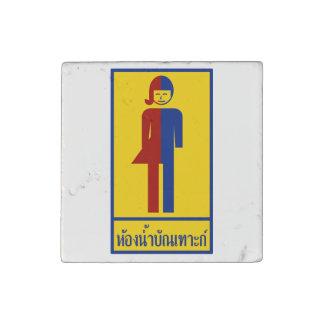 Magnet En Pierre ⚠ thaïlandais de signe de ⚠ de toilette de