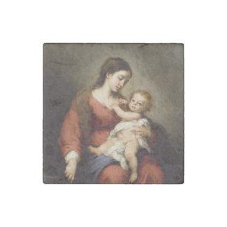 Magnet En Pierre Vierge et enfant du Christ