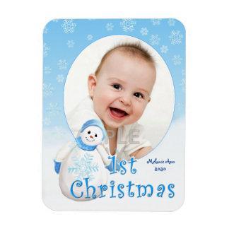Magnet Flexible Ă?re coutume de bonhomme de neige de Noël du bébé