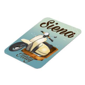 Magnet Flexible Affiche de vacances de scooter de Sienne Italie