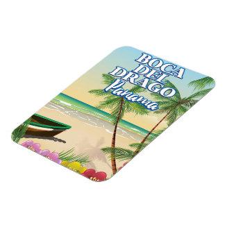 Magnet Flexible Affiche de voyage de plage de Boca del Drago