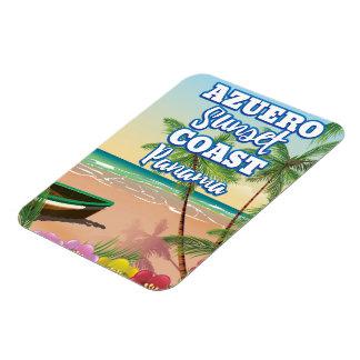 Magnet Flexible Affiche de voyage de plage du Panama de côte de