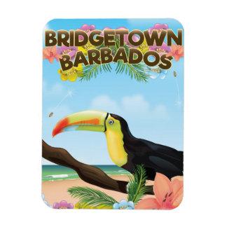 Magnet Flexible Affiche de voyage de toucan de Bridgetown Barbade