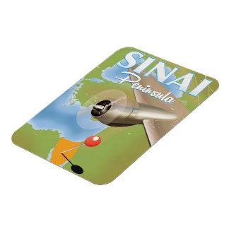 Magnet Flexible Affiche de voyage de vol de péninsule du Sinaï