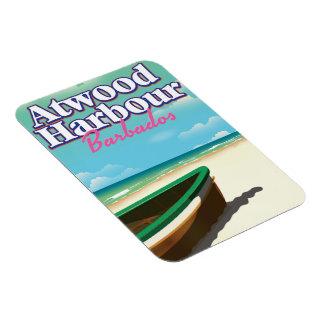 Magnet Flexible Affiche de voyage des Bahamas de port d'Atwood