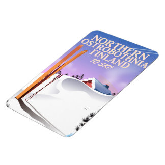 Magnet Flexible Affiche du nord de ski d'Ostrobothnia Finlande